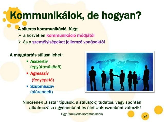 Kommunikálok, de hogyan? A sikeres kommunikáció függ:  a közvetlen kommunikáció módjától  és a személyiségeket jellemző ...