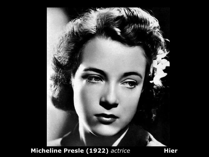 Micheline Presle (1922)  actrice   Hier