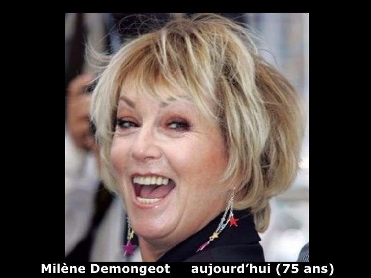 Milène Demongeot  aujourd'hui (75 ans)