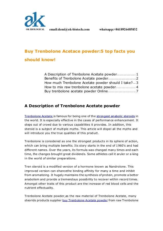 SZOB-buy trenbolone acetace powder5 top facts you should know!