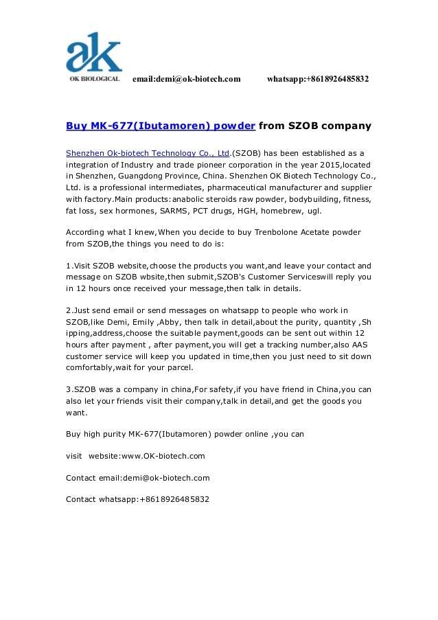 SZOB --things i should know before i buy mk- 677 (ibutamoren