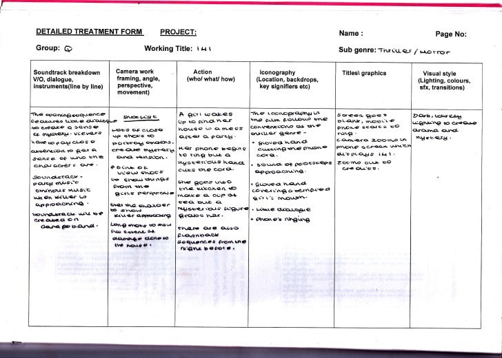 DETAILED TREATMENT                  FORM              PROJECT:                                                            ...