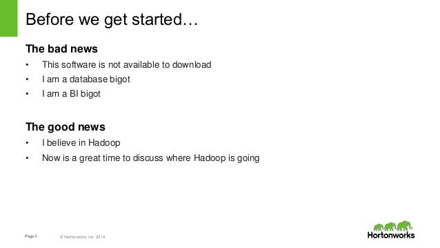 Discardable In-Memory Materialized Query for Hadoop Slide 3