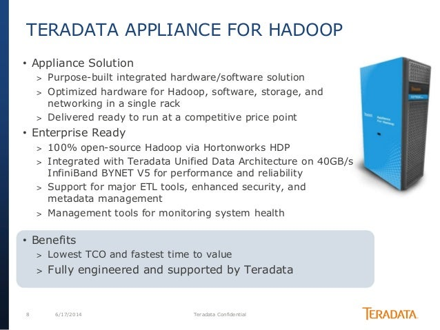 hadoop is not an island in the enterprise teradata etl tools