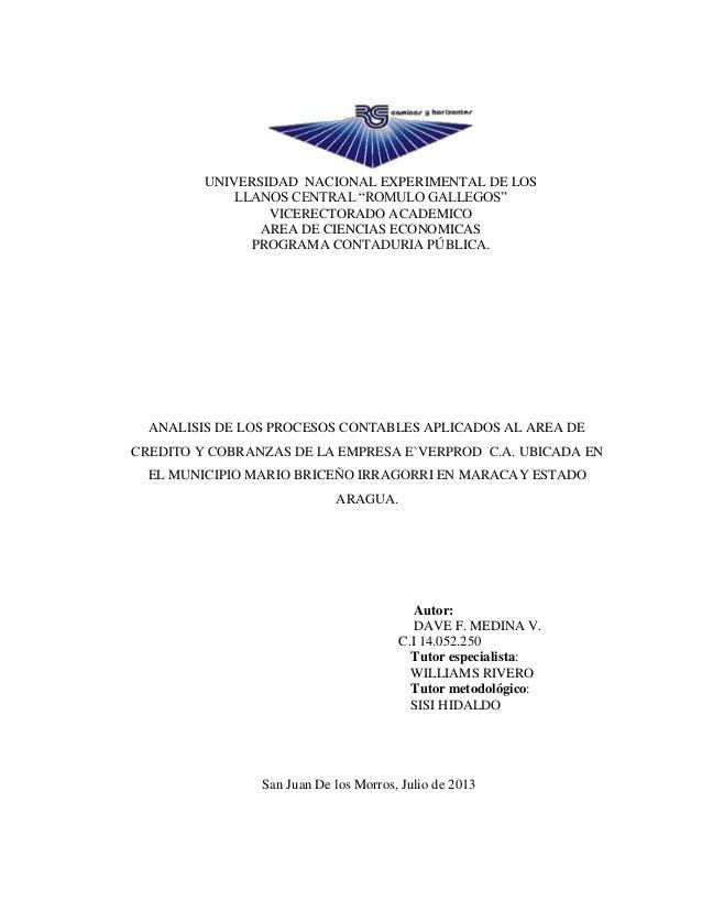 """UNIVERSIDAD NACIONAL EXPERIMENTAL DE LOS LLANOS CENTRAL """"ROMULO GALLEGOS"""" VICERECTORADO ACADEMICO AREA DE CIENCIAS ECONOMI..."""