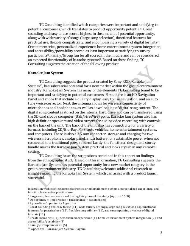 Consulting Report Ethnographic Study Techniques – Consulting Report