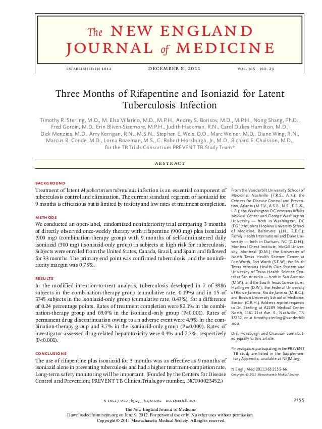 T.1 ECA tuberculosis isoniazida rifampicina
