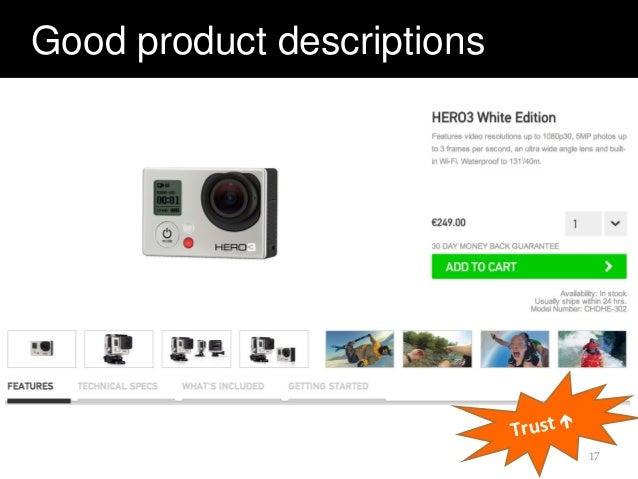Good product descriptions 17 Trust 