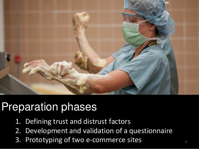 Preparation phases 9 1. Defining trust and distrust factors 2. Development and validation of a questionnaire 3. Prototypin...