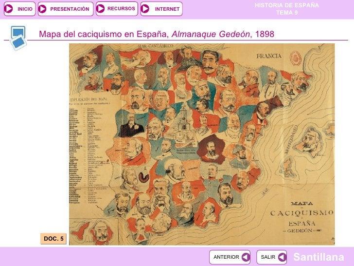 Mapa del caciquismo en España,  Alm a n a que Gedeón , 1898 DOC. 5