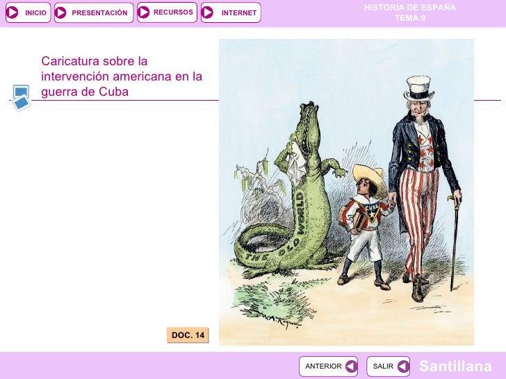 Caricatura sobre la intervención americana en la guerra de Cuba DOC. 14