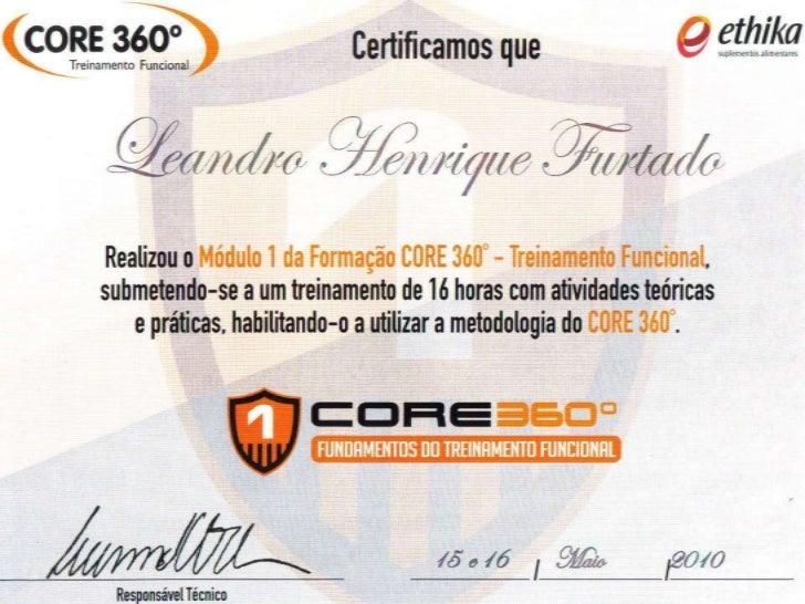 Credenciamento ao método Core 360 Treinamento Funcional