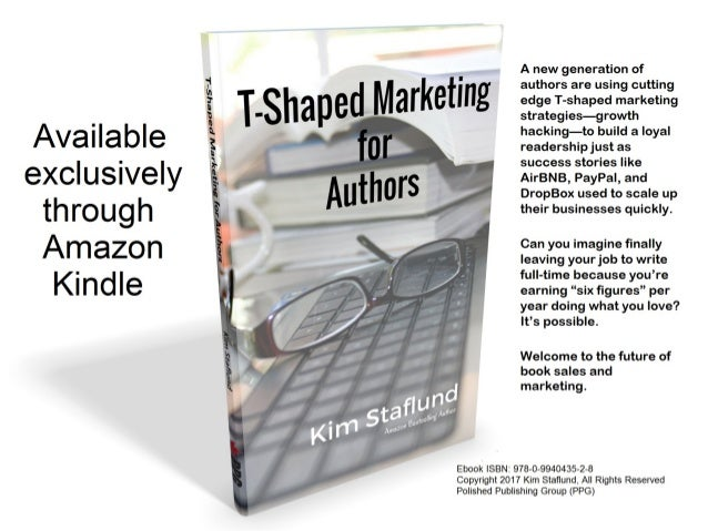 T-Shaped Marketing for Authors. Coming soon! Watch for it in the spring of 2017.