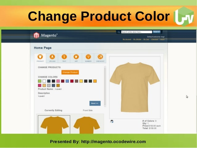 T shirt design studio magento extension Slide 2
