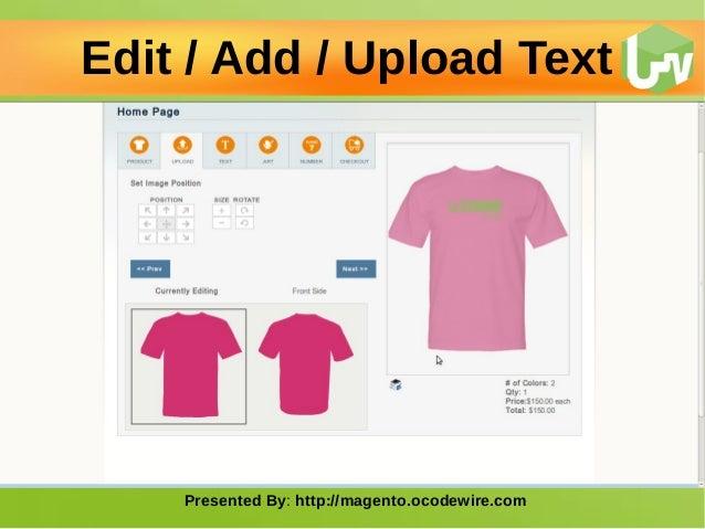 T shirt design studio magento extension Slide 3