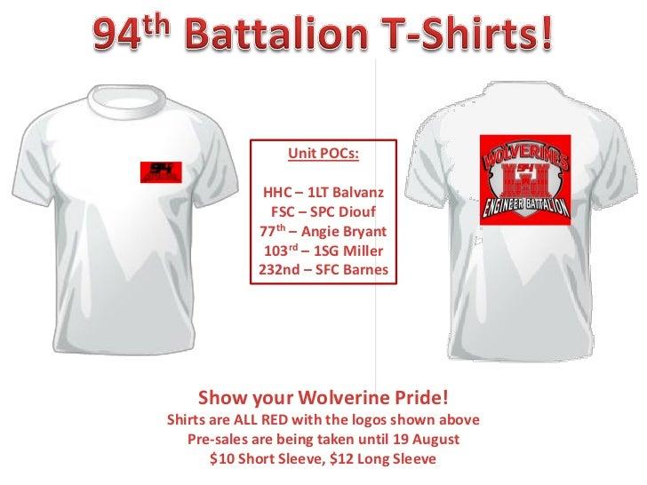 Unit POCs:              HHC – 1LT Balvanz               FSC – SPC Diouf             77th – Angie Bryant              103rd...