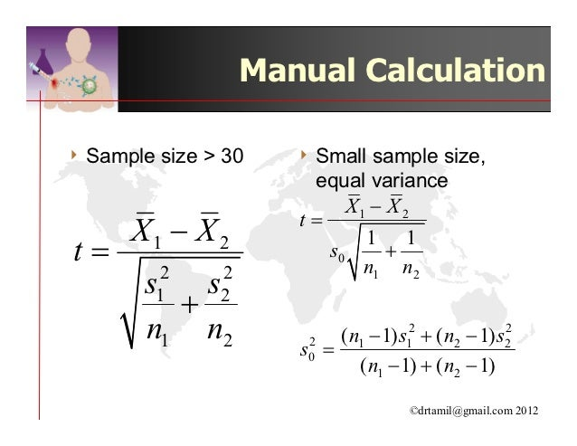 student s t test paired t test anova proportionate test rh slideshare net Calculation Two Sample T-Test Means one sample t test manual calculation