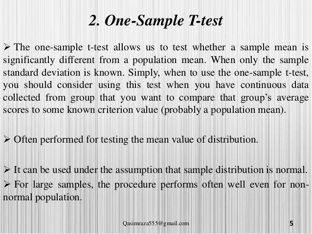 T test, independant sample, paired sample and anova