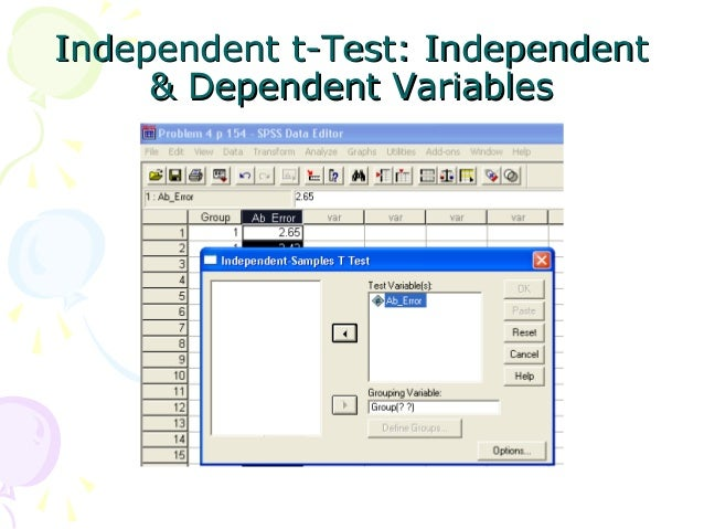 statistics and t test The t- test is the most powerful parametric test for calculating the significance of a small sample mean a one sample t-test has the following null hypothesis.