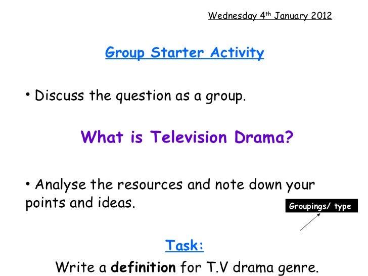 <ul><li>Group Starter Activity   </li></ul><ul><li>Discuss the question as a group.  </li></ul><ul><li>What is Television ...