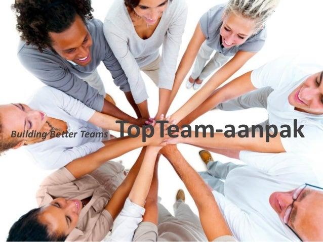 Building Better Teams  TopTeam-aanpak