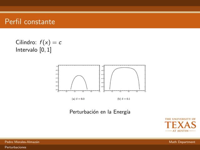 Perfil constante Cilindro: f (x) = c Intervalo [0, 1] Perturbaci´on en la Energ´ıa Pedro Morales-Almaz´an Math Department P...