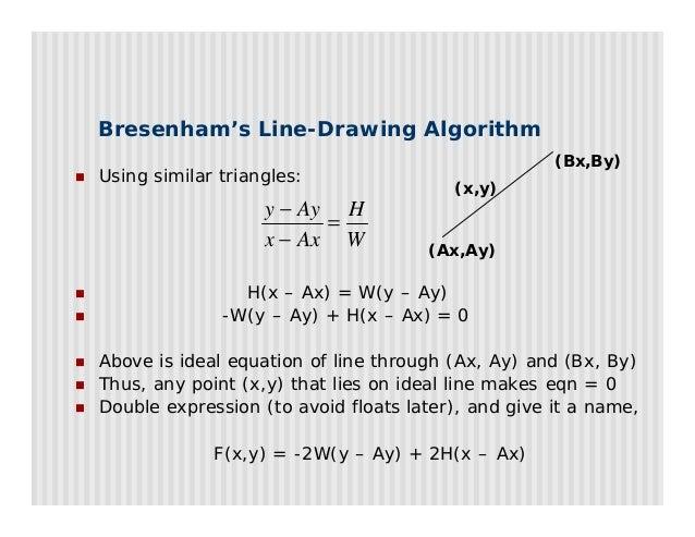 Bresenham Line Drawing Algorithm For Any Slope : Open gl t sm