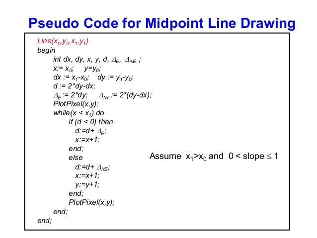 Bresenham Line Drawing Algorithm For Positive Slope : Open gl t sm