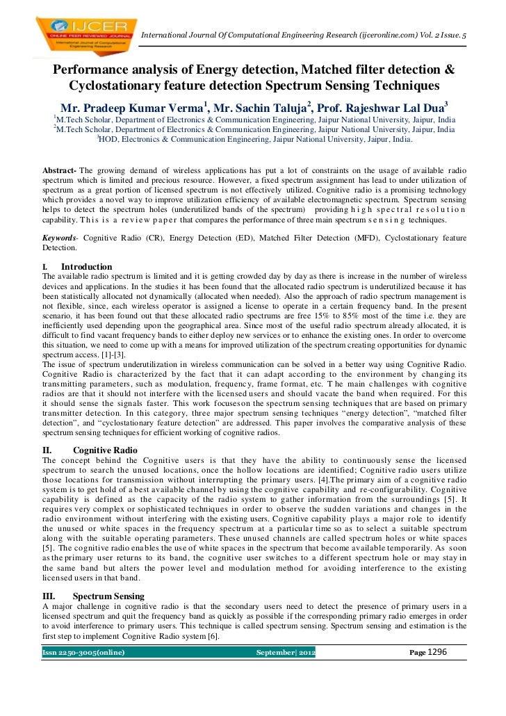 International Journal Of Computational Engineering Research (ijceronline.com) Vol. 2 Issue. 5      Performance analysis of...