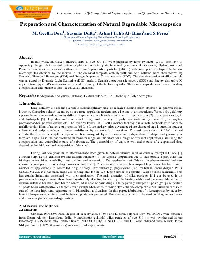 I nternational Journal Of Computational Engineering Research (ijceronline.com) Vol. 2 Issue. 7Preparation and Characteriza...