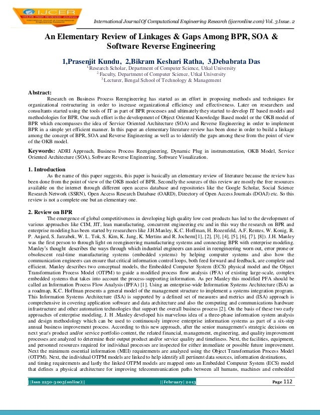 International Journal Of Computational Engineering Research (ijceronline.com) Vol. 3 Issue. 2       An Elementary Review o...