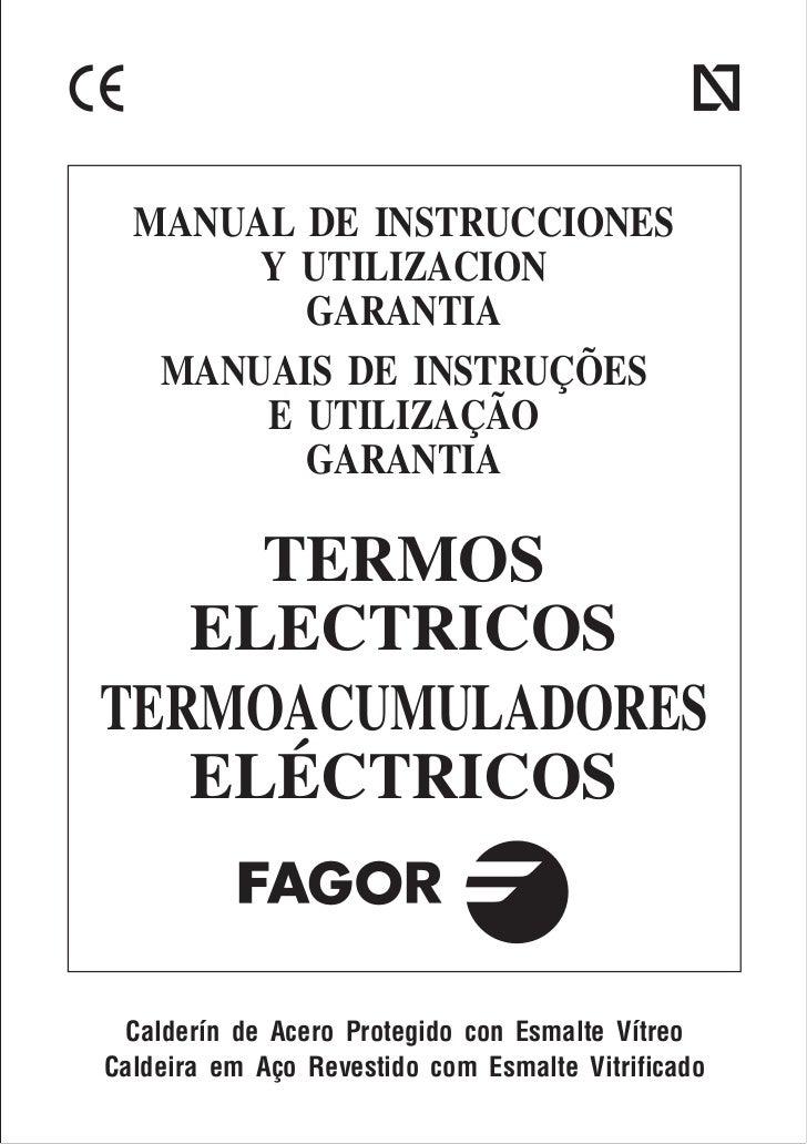 T07 f035f4 fagor biling e p2 servicio for Servicio tecnico fagor granada