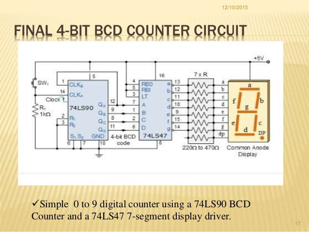 bcd counter17 final 4 bit bcd counter circuit