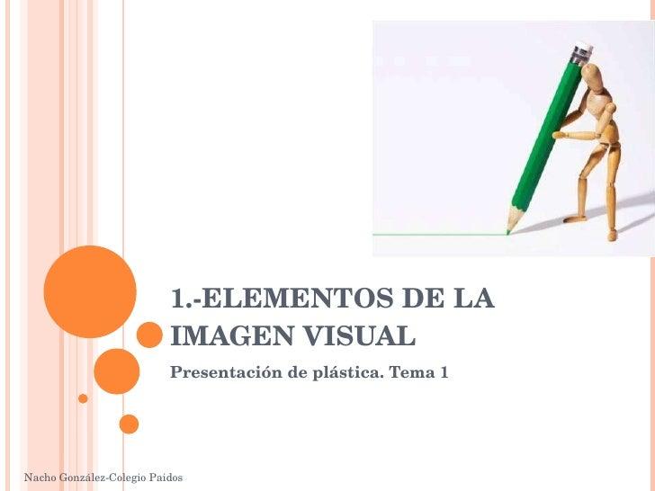 1.-ELEMENTOS DE LA IMAGEN VISUAL Presentación de plástica. Tema 1 Nacho González-Colegio Paidos