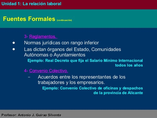 Unidad 1 la relaci n laboral for Convenio colectivo oficinas y despachos pontevedra