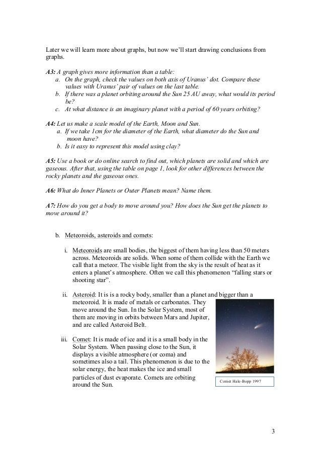 T1  solar system 3, plates, orbits, periods, light,