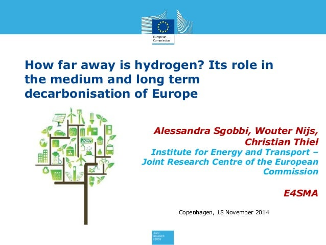 How far away is hydrogen? Its role in the medium and long term decarbonisation of Europe Alessandra Sgobbi, Wouter Nijs, C...