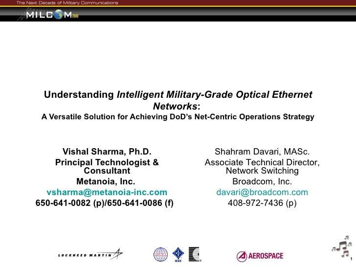 Understanding Intelligent Military-Grade Optical Ethernet                         Networks: A Versatile Solution for Achie...