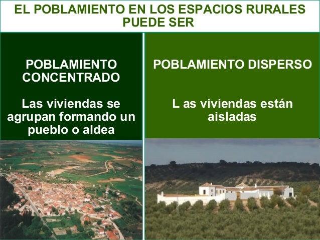 Espacio rural tipos de poblamiento evoluci n espacio rural - Tipos de espacios ...