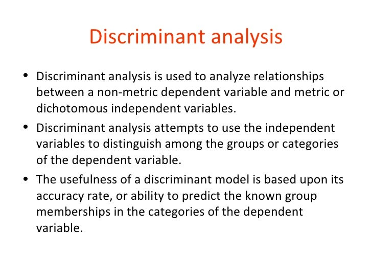 t18 discriminant analysis