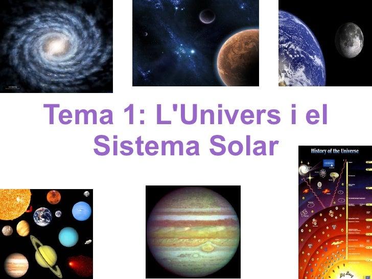Tema 1: L'Univers i el Sistema Solar