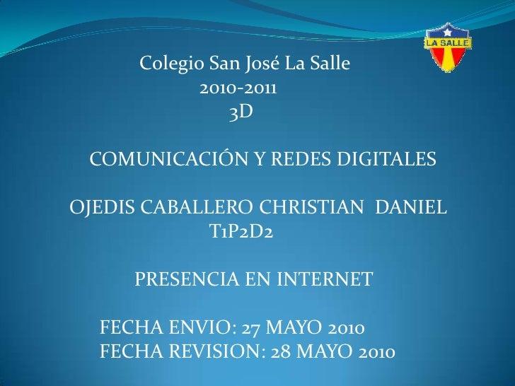 Colegio San José La Salle<br />                                  2010-2011<br />                    ...