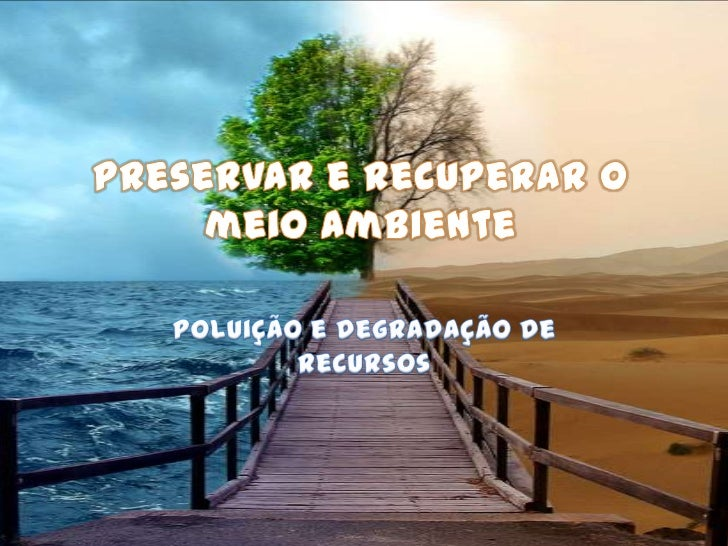 Preservar e recuperar o meio ambiente <br />Poluição e degradação de recursos<br />