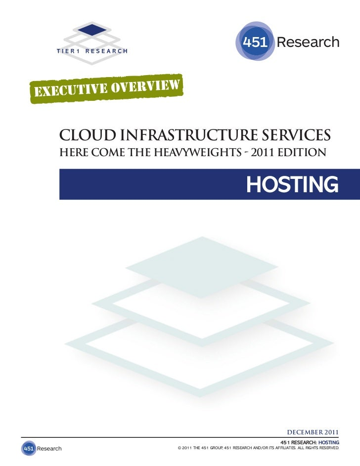 CLOUD INFRASTRUCTURE SERVICESHERE COME THE HEAVYWEIGHTS - 2011 EDITION                                                  HO...