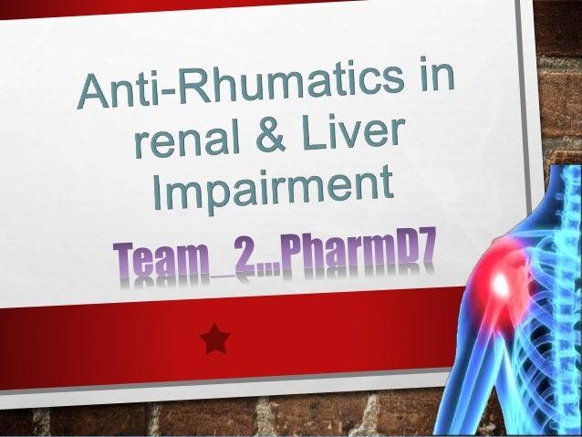 TEAM2 MEMBERS… Name Contribution Rehab aly rayan Intro, d-penicillamine, azathioprine, antimalarial, sodium aurothiomalate...
