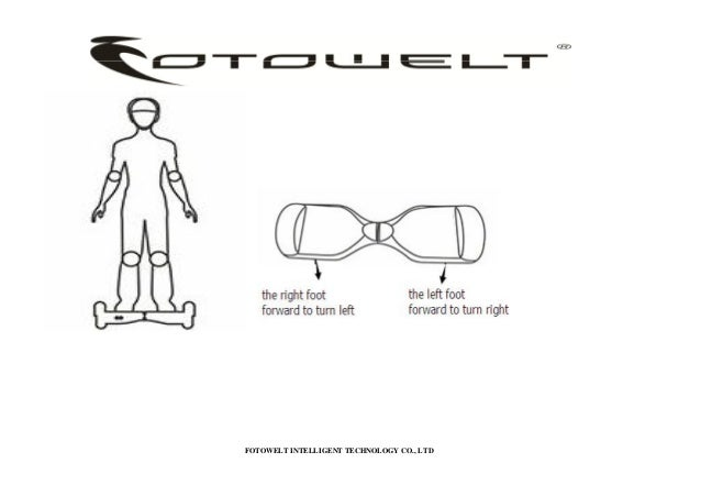 Fotowelt T series Self-Balancing Scooter user manual
