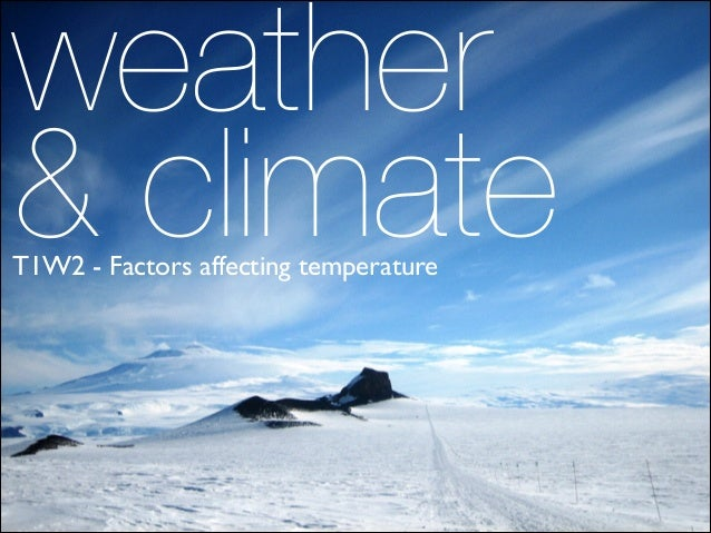 weather  & climate T1W2 - Factors affecting temperature