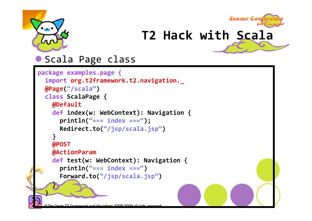 T2HackwithGroovy  GroovyPageclass package examples.page import org.t2framework.t2.annotation.core.Page import org.t2f...