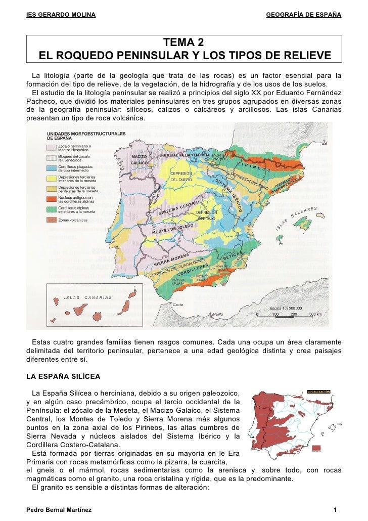 IES GERARDO MOLINA                                                        GEOGRAFÍA DE ESPAÑA                         TEMA...