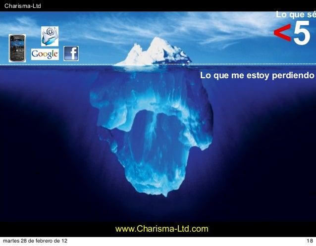 #Charisma-Ltd www.Charisma-Ltd.com Lo que sé Lo que me estoy perdiendo <5 18martes 28 de febrero de 12